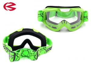 China Mx Full Face Mask Customized Motorcycle Prescription Riding Glasses Green on sale