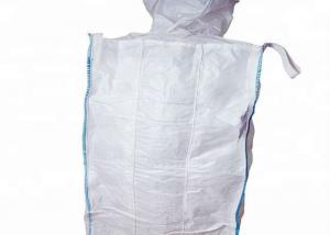 Quality Flat Bottom Breathable FIBC Bulk Bags , 1 Ton Virgin PP Super Sacks Bags for sale