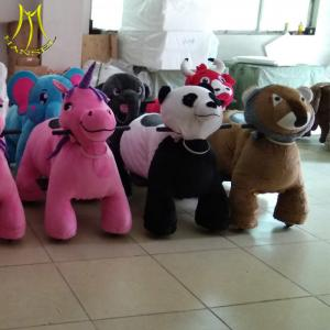 China Hansel large amusement games moving stuffed ride on electric toy animal on sale