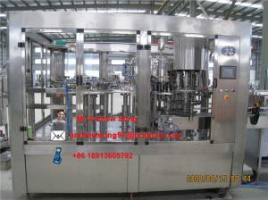 China Automatic soft beverage filling plant, carbonated beverage production line on sale