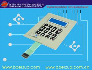 China Tactile Keyboard Membrane Switch Panel With Flat Keypad For Telephone Set on sale