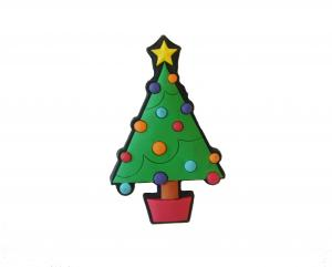 China Christmas tree PVC Personalized Refrigerator Magnets /sticker, for Souvenirs and holidays on sale