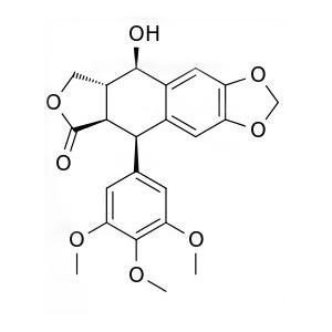 China high quality Podophyllotoxin (PPT) 98%, Podofilox, CAS No.: 518-28-5, pharma/pesticide ingredient, Chinese Manufacturer on sale