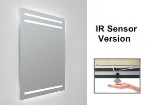 China 3000k Anti Fog Bathroom Mirror , Illuminated Sensor Bathroom Mirrors Rectangle on sale