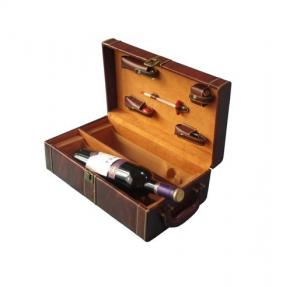 China Mahogany MDF Offset, UV Printing Wooden Storage Boxes / Wood Wine Box for Gift Packaging on sale
