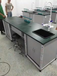 Aluminium Wood Structure School Lab Furniture Laboratory Workbench