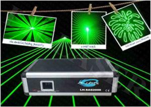 China 532NM 2W Green Disco Laser Light , 2000MW Animation DJ Laser Projector Stage Show on sale