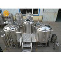 3 Vessels Micro Brewing Systems Abrasion Resistant 500L / 1000L Tanks