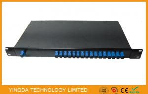 China Epon PLC Fiber Optic power splitter 1x16 1260-1650nm In 19 Rack Mount 2mm Sm Cable on sale