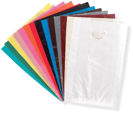 "100 Plastic Bags Lot Shopping Gift 15/"" 40cm Pink Wave"