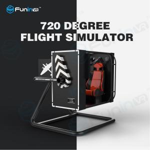 China 500 inch Screen VR Flight Simulator With Full Digital Servo System Easy Operation on sale