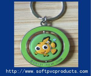 China Soft PVC Products Metal Ring Custom Key Chain Ring for Advertising / Promotional Gifts on sale
