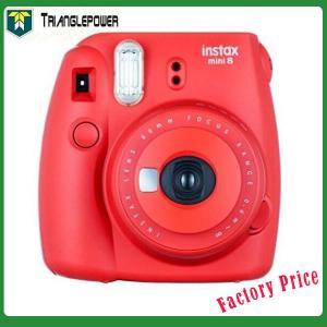 China ラズベリーの赤いFujiFilm Instaxのカメラの小型8 checkiの瞬間のポラロイド on sale