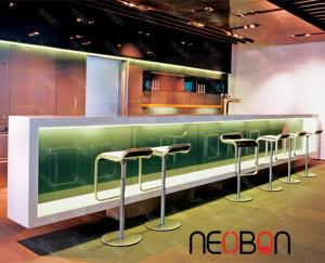 China Acrylic solid surface modern restaurant bar counter on sale