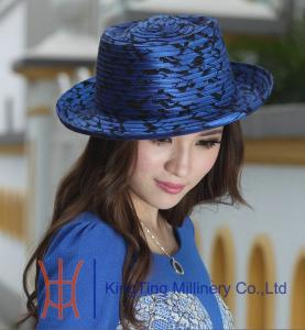 ... Quality Winter Dress White   Blue Ladies Church Hats Satin Fabric  Headwear for sale ... 7610c554320