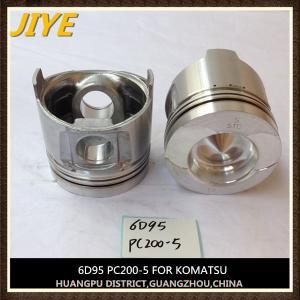China cummins komatsu excavator engine parts pc200-6 S6D95LE-1 piston 6209-31-2180 liner 6207-21-2110 on sale
