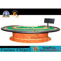Durable Simple Modern Poker Card Table Top With Z Wood Legs / Baccarat Table