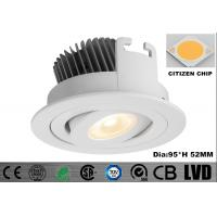 Round Energy Saving 30 Degree Tiltable Aluminum LED Downlights Dimmable