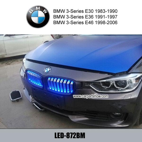 Car Auto Abs Front Grill With Led Light Front Grille For Bmw 3