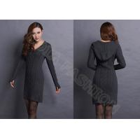 Black Wool Womens Cable Knit Sweaters
