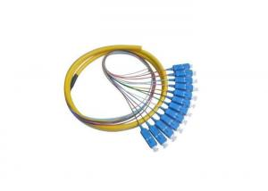 China Yellow SC 12 Core Fiber Optic Pigtail PE Jacket For Military Instrumentation on sale