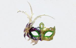 China Plastic Mardi Gras Masquerade Masks With Metal Feather Masquerade 10 on sale