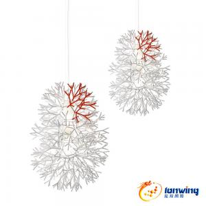 China Nice Acrylic Modern Suspension Light Coral Shade Suspension Lamp For Dining Room on sale