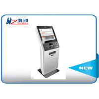 LED touch screen Hospital check in kiosk terminal with keyboard , white