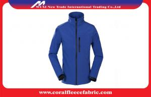 China Oversize Windproof Outdoor Soft Shell Mens Outdoor Jackets with 100% Polyester on sale