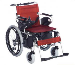 China High intensity aluminum frame folding power wheelchairs manual and electric dual-purpose on sale