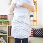 Uniformes del cocinero del delantal de la cocina del algodón de la cintura con la impresión de la máquina