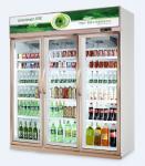 直立したクーラーの商業ガラス ドア冷却装置冷たい飲み物の表示飲料の表示
