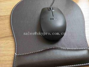 China Non - Slip PU Base Neoprene Rubber Sheet Leather Wrist Rest Comfort Gaming Mouse Pad on sale