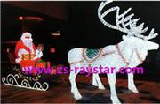 China Raystar  Supply  Santa Claus 2000leds 220v IP44 For LED Decoration Christmas Festival on sale