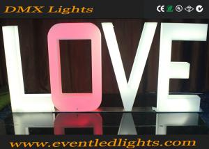 China Customized LED Illuminated Letters , Alphabets Decorate Led Love Letters on sale