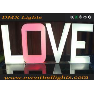 China Customized LED Illuminated Letters , Alphabets Decorate Led Love Letters on sale