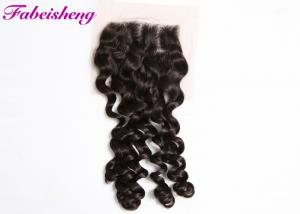 China Brazilian Curly Weave 4x4 Lace Closure 8 - 30 Inch Hair Extensions on sale