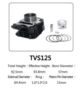 China Indian Model TVS 125 Motorcycle Big Bore Cylinder Kits With Anti Corrosion on sale