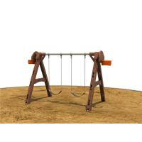 A Shape Children Swing Sets With 2 Seats Outdoor For Preschool