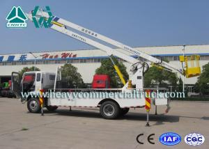 China Drive System Curved Arm Hydraulic Platform Truck 190HP SINOTRUK on sale