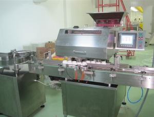 China Pharmaceutical Grade Bottling Plant Tablet Counting Filling Machine , High Accuracy on sale