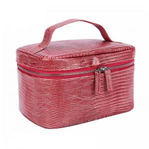 China Custom Fashion Large Capacity Waterproof Women Tote Cosmetic Bag Double Zipper on sale