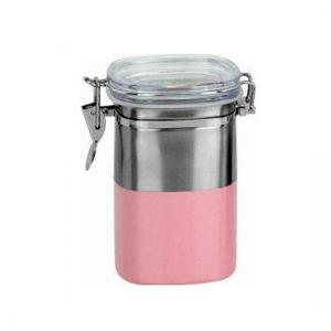 """China 4"""" or 5"""" Round SS Canister Set with Airtight Acrylic Lid on sale"""
