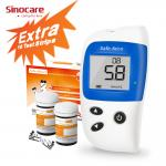 Light warning Life Time Warranty Diabetes Glucose Meter With 7/14/28/60/90 Testing Result Average