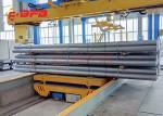 Heavy load industrial trolleys, heavy pipe handling trolley, powered industry transfer trolley