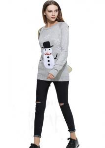 China Hot Sell Knitted Jumpers Jacquard Ugly Christmas Sweater For Women on sale