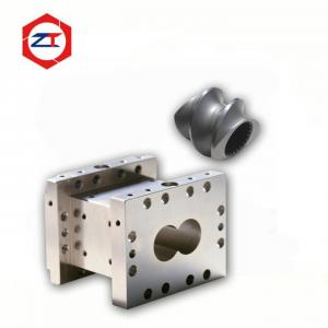 China 38CrMoAla Twin Extruder Screw , Double Screw Extruder Machine Barrels 60mm Center Distance on sale