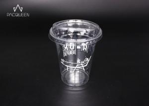 China Crack Proof Plastic Milkshake Cups , Milkshake Takeaway Cups With Lids on sale