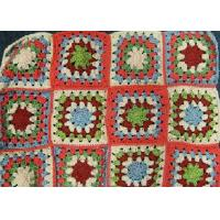 Multi - Color Square Crochet Stool Cover Handmade Floral Hollow Out Folded
