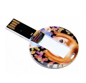 China Round White Credit Card USB Flash Drive  Pendrive 32G  64G 128G  Windows Vista  Windows 7 Supply on sale